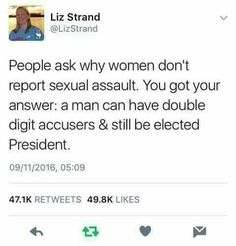 Women don't report sexual assault because...