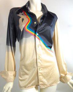 70s Rainbow Disco Shirt