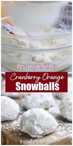 Christmas Sweets, Christmas Recipes, Holiday Recipes, Easy Cookie Recipes, Real Food Recipes, Dessert Recipes, Snowball Cookies, Christmas Cookies, Snowballs Recipe