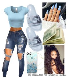 """Baby blue "" by rayven019 on Polyvore featuring Casetify"