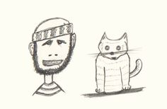 Day #76 - Doodle, One man and his cat