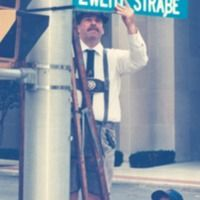 changing to German street signs for Oktoberfest