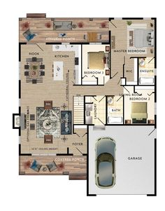 Bungalow Floor Plans, Modern Floor Plans, Cottage Floor Plans, Cottage Plan, House Floor Plans, New House Plans, Dream House Plans, Small House Plans, Beaver Homes And Cottages