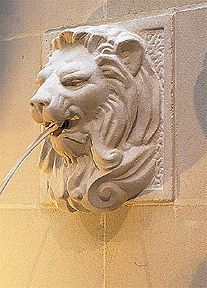 Stone Lion Wall Fountain pool water features Wall Fountains Collection - New England Garden Ornaments Water Features For Sale, Stone Water Features, Pool Water Features, Pool Fountain, Garden Fountains, Wall Fountains, Stone Fountains, Garden Ponds, Indoor Fountain