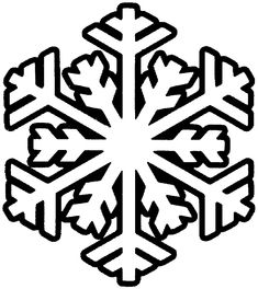 Snowflake Simpleshapes Coloring Pages  Coloring Book