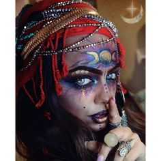 another take on my entry for the #UDM100K contest!!! ✨ theme: carnival | fortune teller   #fortuneteller#undiscoveredmuas#makeupcontest#beautybyjenna#happyfriday