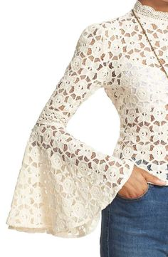 Discover recipes, home ideas, style inspiration and other ideas to try. Sheer Lace Top, Lace Tops, Kinds Of Clothes, Clothes For Women, White Fashion, African Fashion, Casual Looks, Dress To Impress, Casual Dresses