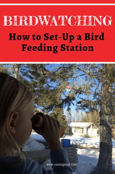 How to Set-up a Bird Feeding Station A great preschool activity for spring! Our latest unschooling, interest-lead learning activity Bird Feeding Station, Wooden Bird Houses, Bird Book, She Likes, Little Birds, Painting For Kids, Bird Watching, Learning Activities, Bird Feeders