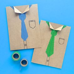 Making Fathers Day Cards With Washi Tape - Omiyage Blogs