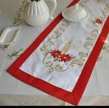 Resultado de imagen para caminos de mesa navideños Cutwork Embroidery, Embroidery Designs, Christmas Decorations, Holiday Decor, Table Runners, Cross Stitch, Sewing, Home Decor, Google Search
