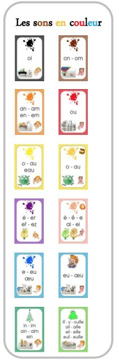 Sons complexes et Code couleur - French Teacher, Teaching French, Education And Literacy, Kids Education, Core French, French Classroom, French Immersion, French Lessons, Reading Activities