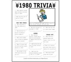 graphic relating to 80's Trivia Questions and Answers Printable named 49 Easiest Trivia Night time Designs photos in just 2015 Trivia game titles