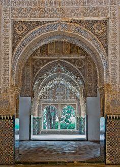 Palacio de los Leones. Entrance arch to the Sala de los Ajimeces and the Mirador de Lindaraja