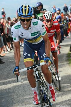 Alberto Contador (Saxo Bank-Tinkoff Bank) was unable to drop Joaquim Rodriguez (Katusha) again today. Contador says the 6 month layoff due to his suspension is the reason for his lack of sharpness.