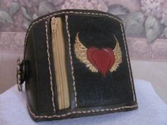 Heart  Wings Leather Convenient Cuff  by thompsoninspirations, $35.00