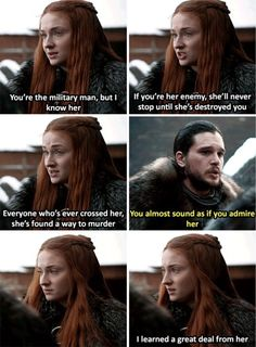 Game of Thrones Season 7 Episode 1 Movies And Series, Book Series, Movies And Tv Shows, Game Of Thrones Sansa, Game Of Thrones Meme, Sansa Stark, Game Of Thrones Instagram, Got Memes, Tv Show Quotes