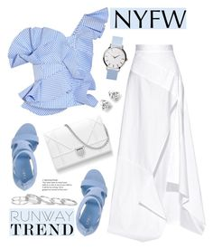 """Hot NYFW Runway Trend"" by deeyanago ❤ liked on Polyvore featuring Johanna Ortiz, Michael Lo Sordo, Le Silla, Kendra Scott, Georgini and NYFW"
