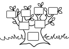Family Tree coloring page-great to use as a reminiscing activity. (From the Crayola website)