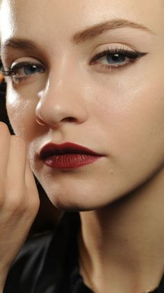 7 New Makeup Trends to Try Today: for fuller lips connect your cupids bow (the upper part of your top lip) with a nude lip liner before applying a light gloss.