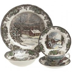 Johnson Brothers Friendly Village. Christmas DinnerwareChristmas ...  sc 1 st  Pinterest & Johnson Brothers Merry Christmas 32-Piece Dinnerware Set | X-Mas ...
