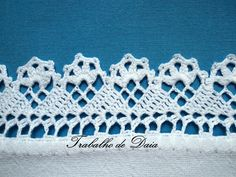 Crochet lace edging, worked sideways