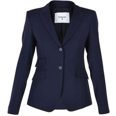 Dondup Blazers (430 CAD) ❤ liked on Polyvore featuring outerwear, jackets, blazers, blue, dondup, blue blazer, blazer jacket, blue jackets and blue blazer jacket