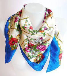 Vintage 1980's VALENTINO  gorgeous scarf Chain by DorisVintage, $198.00