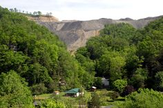 A community in Wise County, Virginia sits at the base of a mountaintop removal coal