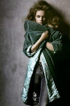 Soft summer in mint green velvet