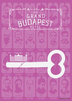 The Grand Budapest Hotel Best Movie Posters, Minimal Movie Posters, Grand Budapest Hotel, Moonrise Kingdom, Title Sequence, Alternative Movie Posters, Wes Anderson, Upcoming Movies, Minimalist Poster