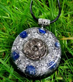 Lapis Lazuli Orgonite Chi Pendant Talisman - EMF Protection and Energy Healing - New Age Pagan