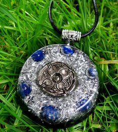 Lapis Lazuli Orgonite Chi Pendant Talisman - EMF Protection and Energy Healing - New Age Pagan