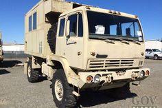Surplus 1995 Stewart & Stevenson M1079 LMTV 4x4 Van Truck in Fort Hood, Texas, United States