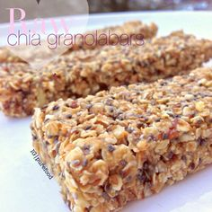 Raw peanutbutter chia seed bars