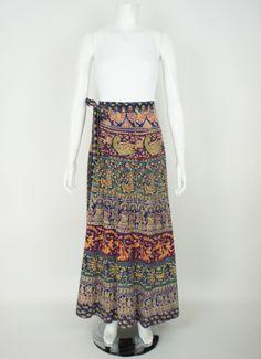 70's Maxi Indian Wrap Skirt