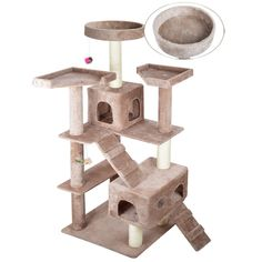Vidagoods 72' Cat Tree Play House Condo Scratcher Post Furniture Bed CARB-Certified E0 Classied Wood Particle-board *** Awesome cat product. Click the image : Cat Tree
