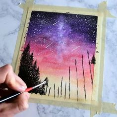 40 Super Cool Milky Way Paintings For Outerspace Lovers - Buzz 2018 - Smutje Kiara - 40 Super Cool Milky Way Paintings For Outerspace Lovers - Buzz 2018 40 Super Cool Milky Way Paintings For Outerspace Lovers - Buzz 2018 - Music Painting, Art Music, Painting & Drawing, Watercolor Paintings, Pink Painting, Space Painting, Night Sky Painting, Galaxy Painting, Galaxy Art