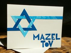 Mazel Tov Star of David Card