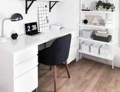 58 Trendy Home Office Inspiration Ideas Lamps Bedroom Desk, Room Ideas Bedroom, Home Decor Bedroom, Diy Bedroom, White Bedroom, Bedroom Small, Design Bedroom, Home Office Bedroom, Bedroom Rustic