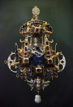 Pendant, Hungary, 16 c Royal Jewelry, Gems Jewelry, Pendant Jewelry, Gold Jewellery, Jewlery, Enamel Jewelry, Antique Jewelry, Vintage Jewelry, Renaissance Jewelry