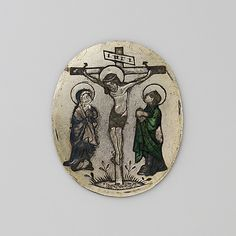 Enamel Plaque with the Crucifixion, ca. 1440-60. South Netherlandish. The Metropolitan Museum of Art, New York. The Cloisters Collection, 1993 (1993.273.2) #Cloisters
