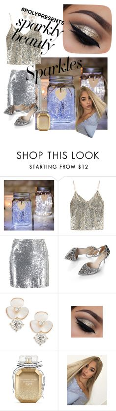 """#PolyPresents: Sparkly Beauty"" by atara-herrmann ❤ liked on Polyvore featuring beauty, Alice + Olivia, Boohoo, Kate Spade, Victoria's Secret, contestentry and polyPresents"
