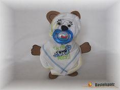 Mini-Windel-Bär, Diaper Cake, Baby Shower, Babyshower, Windeltorte, Windelfigur, Windeltier, Geburtsgeschenk, Diaper Animal Bear
