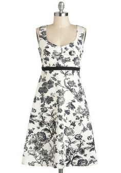 Still Life As We Know It Dress, #ModCloth --again, not my usual kind of print, but I love the look of this dress