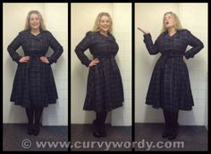 Collectif Dietrich Check Swing Trench Coat 18 http://www.curvywordy.com/2014/02/collectif-dietrich-check-swing-trench.html