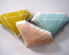 Diamond Plush Pillow by Yellow Heart Art Cute Pillows, Throw Pillows, Pillow Room, Plush Pillow, Diy Upcycling, Art Du Fil, Bottle Painting, Heart Art, Bridal Shower Gifts