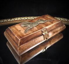 Handcrafted Vintage Bone and Brass Velvet by MadMaxxEstateSale