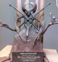 Simon Lee Spiderzero Sculptor Pacific Rim Kaiju Creature Designer Concept Artist - BigBlueTree.com -
