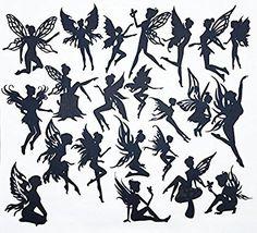 Creative Embellishments Scrapbook Laser Cut Chipboard Fairies Mega Pack 22 pieces (Black)