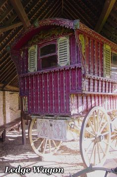 Love the color of this Gypsy Caravan